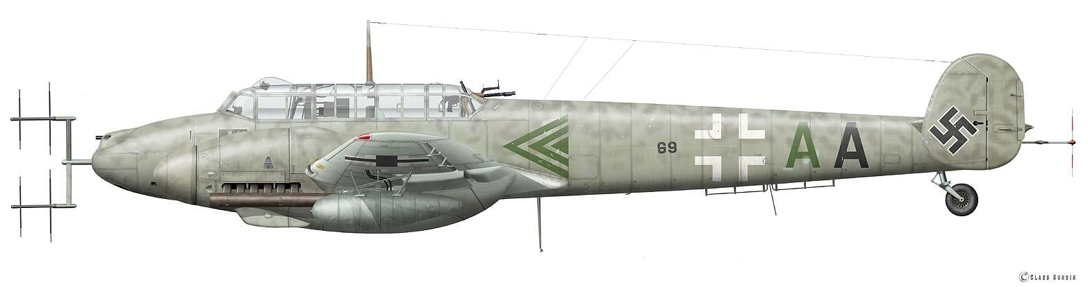Luftwaffe Forced Landing - Messerschmitt Bf 110G-4/R9 ...